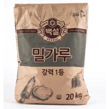 백설 밀가루(강력1등 20Kg)
