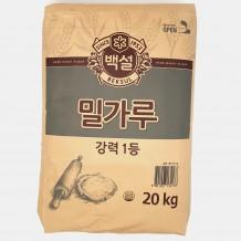 백설 밀가루(강력 1등 20Kg)