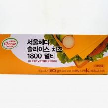 서울우유 체다치즈(18g*25장*4팩 100장)